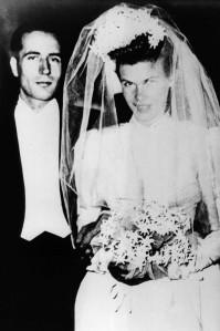 Francois Mitterrand weds Danielle Gouze. FRANCE - 28/10/1944
